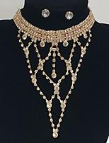 Mujer Gargantillas Y-Collares Brillante Legierung Diseño Básico Euramerican Joyas Para Boda Fiesta Ocasión especial Pedida1 Conjunto 1