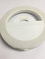 Lumière légère mobile lampe à retardateur usb chargeur flash de beauté ronde lumière de nuit lumières batterie au lithium intégrée blanc