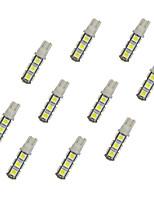 10pcs t10 13 * 5050 smd led voiture ampoule lumière blanche dc12v