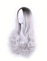 Black Gary Ombre Cosplay Party Long Length Wave Fashion Hit Style High Quality HEAT RESISTANT