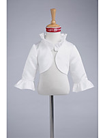 Kids' Wraps Shrugs Satin Wedding Party/Evening Ruffles