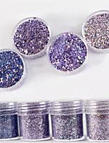 10ml laser gradient brillant brillant brillant en poudre brillant avec paillettes ongle dégradé laser poudre nail art décoration pour