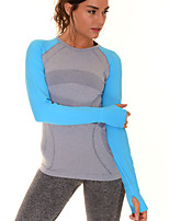 Women's Slim Comfortable Long Sleeve T-shirt Quick Dry Fitness Sports Tops