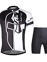 ILPALADINO Maillot de Ciclismo con Shorts Hombres Mangas cortas BicicletaTranspirable Secado rápido Resistente a los UV Compresión