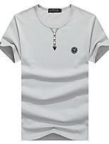 Homens Camiseta Acampar e Caminhar Pesca Respirável Secagem Rápida Verão