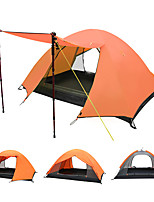 Outdoor Double Double Rain Camping Tents Aluminum Pole Tents Three Season Camping Tents 1 Set