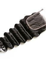 16inch braizlian закрывающие свободной волны лучшие виргинская бразильская шнуровке отбеленные узлы CLOSURES свободного / средний /