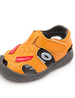Kids' Baby Sandals First Walkers Leatherette Casual First Walkers Flat Heel White Gray Yellow Flat