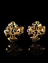 Manschettenknopf Tie Bar Krawattenklammer Kupfer Modisch Geschenkboxen & Taschen Manschettenknöpfe Goldfarben Silber 1 Paar