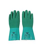 Ansel /ANSELL Green Natural Rubber gloves 30cm Long 250 Degrees Heat Insulation