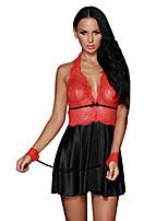Nuisette & Culottes Vêtement de nuit Femme,Sexy Couleur Pleine-Mince Polyester Spandex Aux femmes