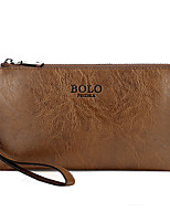 Men PU Formal Casual Event/Party Office & Career Clutch Khaki Brown Black