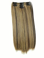 False Hair Extension 11 Clips Clip in Hair Extensions Synthetic Hair Apply Hairpiece 22 Long Straight Hairpieces D1020 4H27#