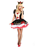 Amazing Queen of Hearts Costume Adults Halloween Costumes for Women Carnival Sexy Anime Role Play Game Fancy Party Dress Outfits