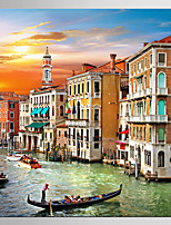 Giclee Print Landscape Modern Mediterranean,One Panel Canvas Square Print Wall Decor For Home Decoration