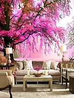 Цветочные Деревья / Листья Обои Для дома Деревенский Облицовка стен , Холст материал Клей требуется обои , Обои для дома