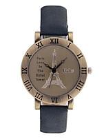 Женские Модные часы Кварцевый PU Группа Коричневый Серый Хаки