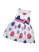 Девичий Платье На выход На каждый день Для школы Акрил Полиэстер С принтом Лето Без рукавов
