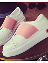 Women's Sneakers Spring Comfort PU Canvas Casual Blushing Pink Black