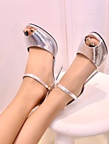 Women's Sandals Spring Comfort PU Casual Silver Gold
