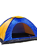 3-4 persons Tent Single Fold Tent One Room Camping Tent 2000-3000 mm Fiberglass Oxford Waterproof Portable-Hiking Camping