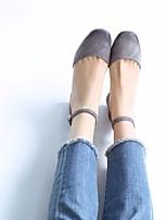 Sandalias de las mujeres primavera comodidad PU casual luz rosa gris claro