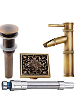 Antique Modern Centerset Widespread Pre Rinse with  Ceramic Valve Single Handle One Hole for  Antique Copper , Bathroom Sink Faucet