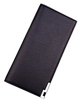 Fashion Men Wallet PU Polyester All Seasons Formal Office & Career Shopping Baguette Metallic Without Zipper Coffee Black