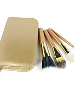 1 Set Makeup Brush Set Goat Hair Portable Full Coverage Wood Face Eye