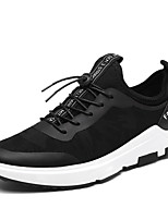 Men's Sneakers Comfort Polyester Spring Summer Gift Daily Casual Outdoor clothing Holiday Casual/Daily Street Athleisure Lace-up Flat Heel