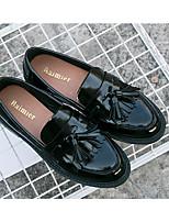 Damen-Stiefel-Lässig-Gummi-Flacher Absatz-T-Riemen-Schwarz