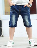 Мальчики Джинсы На выход На каждый день Для школы Хлопок Вышивка Лето