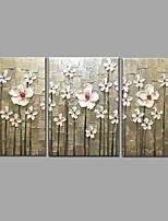 Ručně malovaná olejomalba Moderní nůž květu 3 ks / sada stěn umění s napnutým rámem připravený k zavěšení