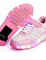 Kid Boy Girl Wheely's Roller Skate Shoes Light Up Shoes Luminous Shoe PU Outdoor Athletic Casual LED Hook & Loop Lace-up