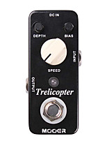 Mooer Trelicopter Tremolo Guitar Effect Pedal Classic Optical Tremolo with Huge Range of Speeds and Depths Full Metal Shell True Bypass