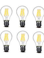 ® Shenmeile 5.5W E27 LED Filament Bulbs A60(A19) 8 COB 700 lm Warm White Decorative AC220 AC230 AC240 V 6 pcs