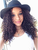 Kinky Curly Wig Human Virgin Hair Natural Black Color Lace Front Wig with Baby Hair