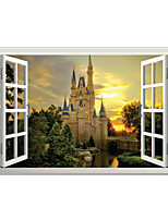 3D Wall Stickers Wall Decals Style Creative Castle PVC Wall Stickers