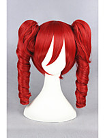 VOCALOID Red Wave 16inch Anime Cosplay Wigs2Ponytails CS-157A