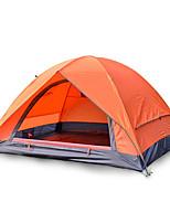 2 человека Световой тент Двойная Складной тент Однокомнатная Палатка Стекловолокно Оксфорд Водонепроницаемый Переносной-Пешеходный туризм