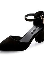 Femme Sandales Confort Polyuréthane Eté Extérieure Marche Boucle Block Heel Noir Vert Véronèse Rose Moins de 2,5 cm