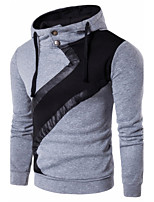 5 colors  M-3XL Hot Sale Men's Casual/Daily Hoodie Solid Color Block Hooded Micro-elastic Cotton Long Sleeve Spring Fall