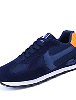Men's Sneakers Spring Summer Mary Jane Comfort Tulle Outdoor Athletic Casual Flat Heel Lace-up Blue Gray Running