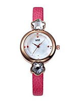 Women's Fashion Watch Quartz Leather Band Black White Red Brown