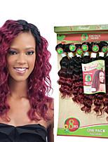 A Ombre Cheveux Brésiliens Ondulation profonde 6 Mois 1 Pièce tissages de cheveux