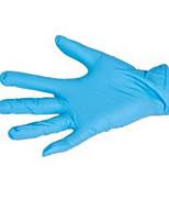 Ammex un morceau de gants de teinte bleue avec une seule poudre