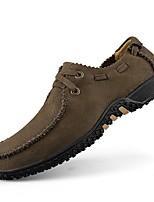 Черный Желтый Хаки-Для мужчин-Повседневный-Кожа-На плоской подошве-Удобная обувь-Мокасины и Свитер
