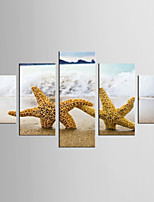 Giclee Print Landscape Style Mediterranean,Five Panels Canvas Any Shape Print Wall Decor For Home Decoration