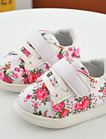Girls' Sneakers Spring Fall Comfort PU Casual Flat Heel Blushing Pink White