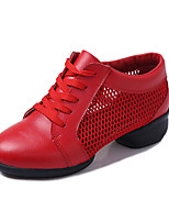 Non Customizable Women's Dance Shoes Tulle Dance Sneakers / Modern Sneakers Low Heel Outdoor Black/Red/White